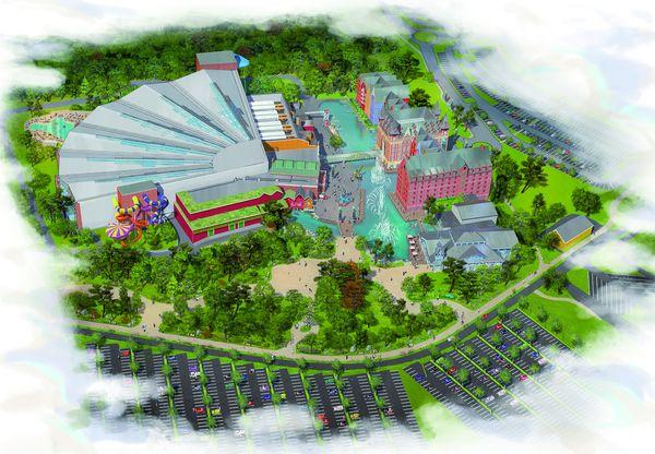 Eine Konzeptzeichnung des neuen Wasserlebnis-Resorts beim Europa-Park in Rust. Bild: Europa-Park