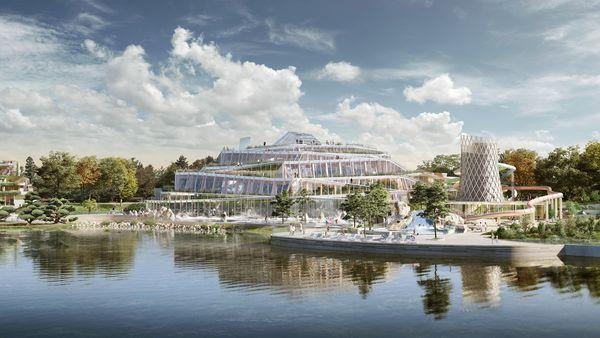 Aqualagon - eines der größten Erlebnisbäder Europas. Bild © Groupe Pierre & Vacances-Center Parcs