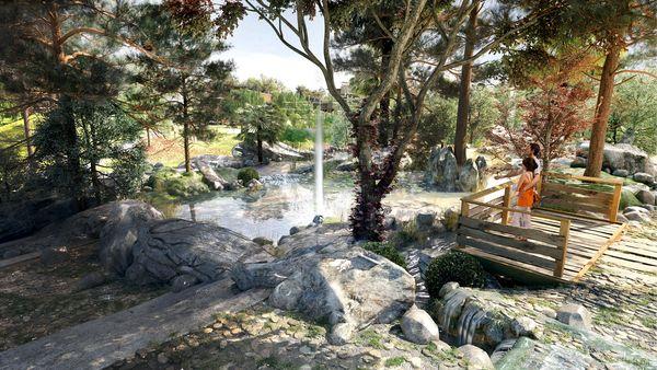 Bei den Extraordinary Gardens von Villages Nature® Paris steht das Zusammentreffen von Mensch und Natur im Mittelpunkt. Bild © Groupe Pierre & Vacances-Center Parcs