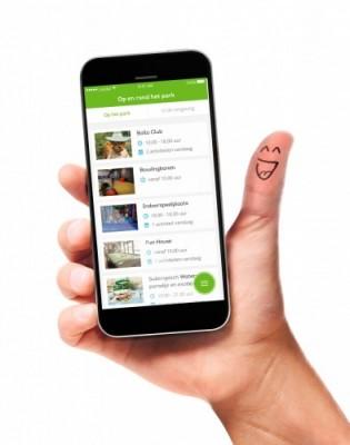 Die neue App von Landal GreenParks. Bild: Landal GreenParks GmbH
