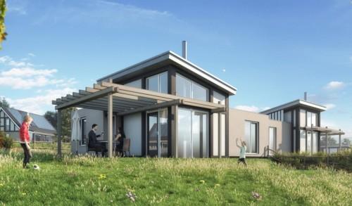 Konzeptzeichnung der  energieneutralen Häuser Mont Royal. Bild: Landal GreenParks