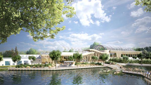 So wird der Center Parcs Park Allgäu nach seiner Fertigstellung aussehen. Bild © Groupe Pierre & Vacances-Center Parcs