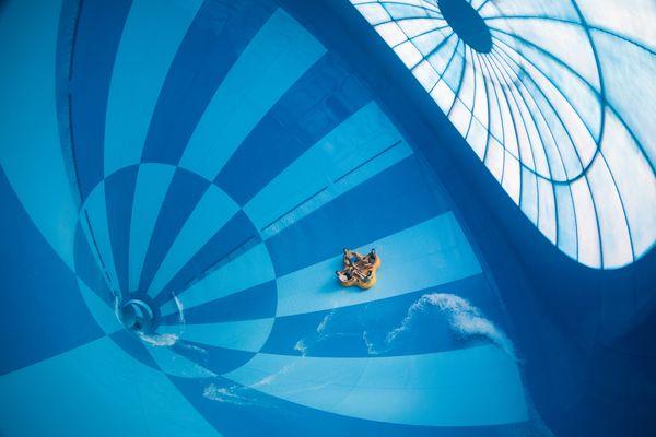Die größte Indoor-Wasserrutsche der Welt. Bild: Landal GreenParks